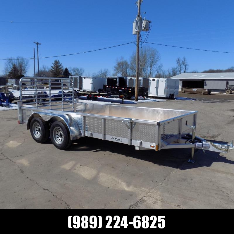 New Legend Open Deluxe 7' x 14' Aluminum Utility Trailer - $0 Down & Payments From $103/mo. W.A.C.