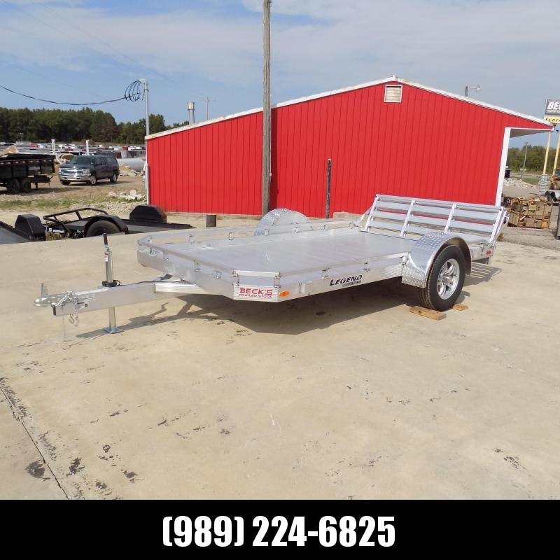 New Legend All Aluminum 7' x 12' Utility Trailer With Aluminum Deck & 3-Way Gate - $0 Down & $79/mo. W.A.C.