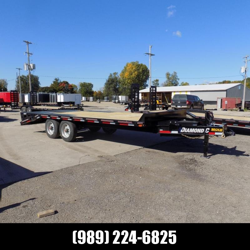 "New Diamond C Trailers 102"" x 20' Deckover Equipment Trailer With 10K Torsion Axles & Nearly 16K Payload Capacity - $0 Down & Payments From $155/mo. W.A.C."