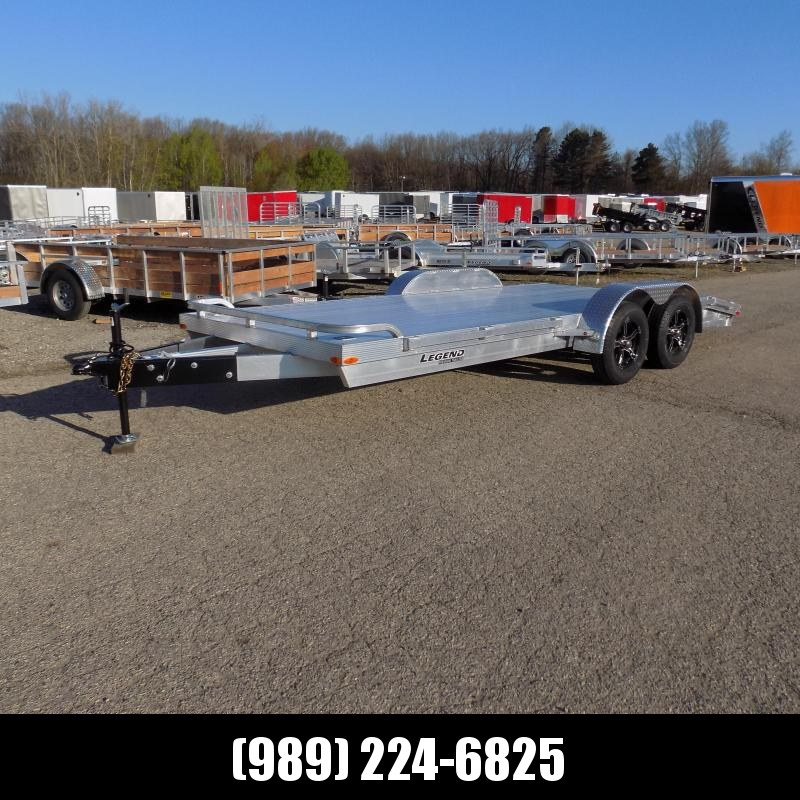 New Legend 7' x 18' Aluminum Open Car Hauler With Aluminum Deck - $0 Down Financing Available