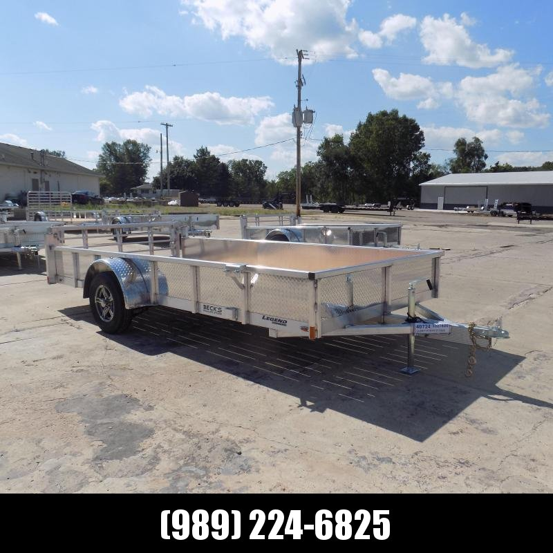 New Legend Open Deluxe 7' x 14' Aluminum Utility - $0 Down & Payments From $113/mo. W.A.C.