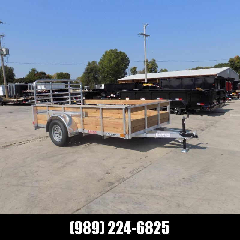 New Legend 6' x 10' Aluminum High Side Utility Trailer For Sale - $0 Down & Payments From $59/mo. W.A.C.
