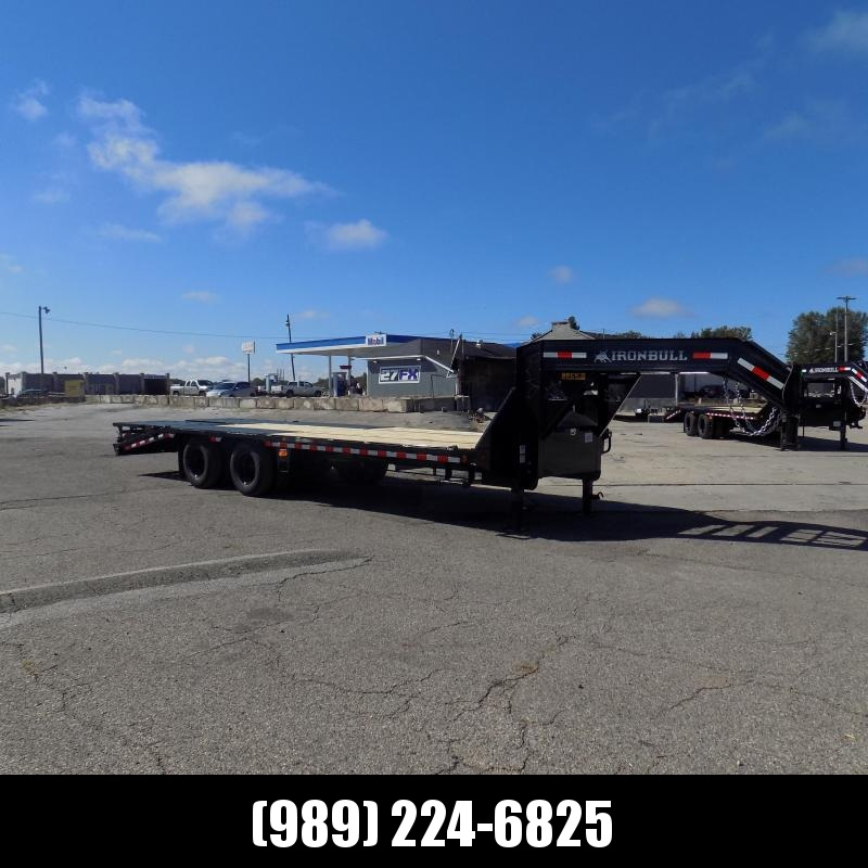 """New Iron Bull Trailer 102"""" x 25'' Gooseneck Trailer With Max Ramps - $0 Down & Finance Options Available"""