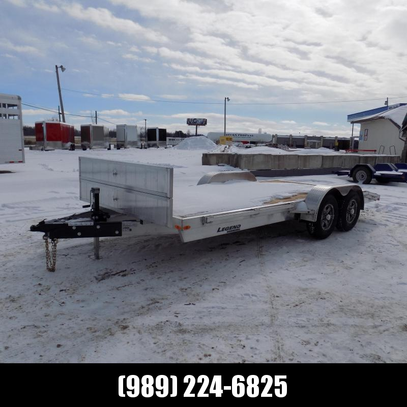New Legend 7' x 18' Aluminum Open Car Hauler - 5200# Torsion Axles - $0 Down & Payments From $117/mo. W.A.C.