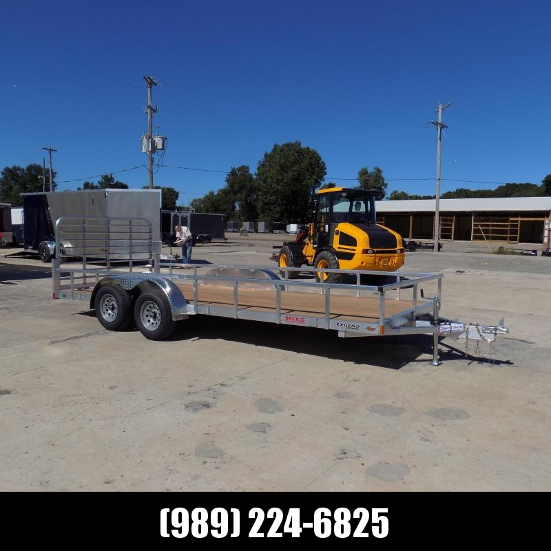 New Legend Open Deluxe 7' x 18' Aluminum Utility Trailer - $0 Down & Payments From $103/mo. W.A.C.