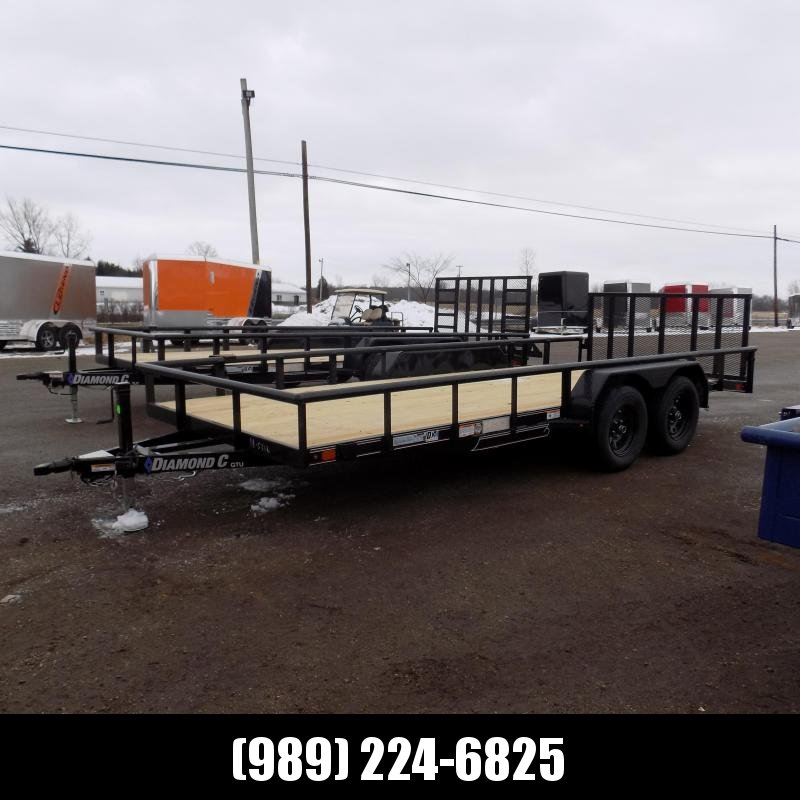 New Diamond C Trailers 7' x 18' Tandem Axle Utility Trailer With Bi-Fold Gate - $0 Down & $101/mo. W.A.C.