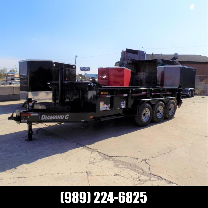 "New Diamond C Trailers 82"" x 16' Low Profile Dump - Triple Axle- $0 Down Financing Available"