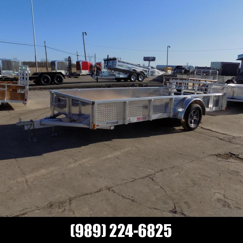 New Legend Open Deluxe 7' x 14' Aluminum Utility Trailer - $0 Down & Payments From $77/mo. W.A.C.