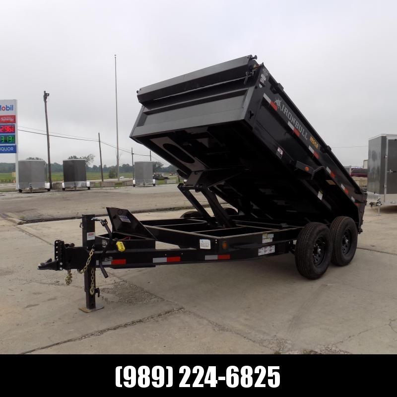 New Iron Bull 7' x 12' Dump Trailer - 7 Gage Floor - Flexible $0 Down Financing Available