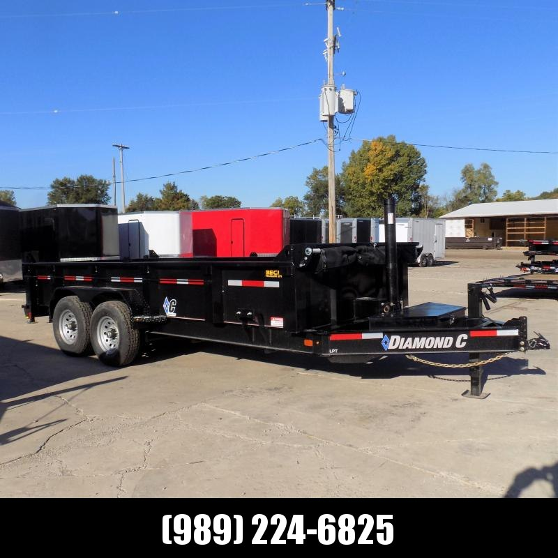 "New Diamond C Trailers 82"" x 16' Low Profile Dump W/ Telescopic Lift - $0 Down & Payments from $147/mo. W.A.C."