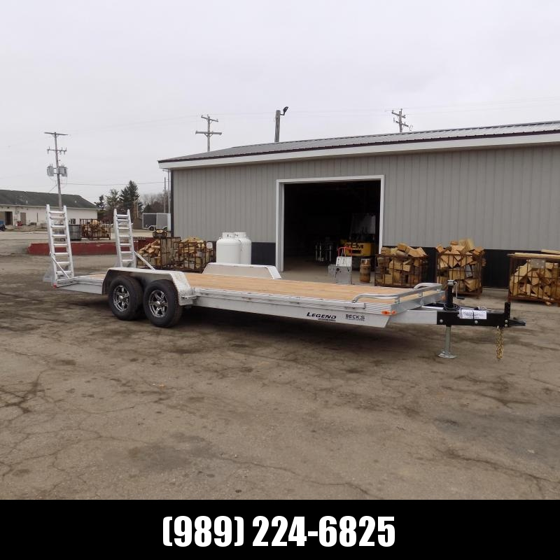 New Legend 7' x 22' Aluminum Equipment Trailer With 5200# Torsion Axles - $0 Down & Payments from $139/mo. W.A.C