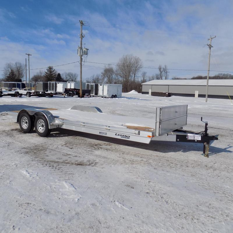 New Legend 7' x 22' Aluminum Open Car Hauler - Torsion Axles - $0 Down & Payments From $109/mo. W.A.C.