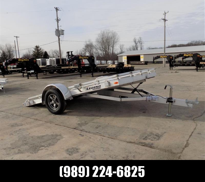 New Legend Trailers 7' X 12' Tilt Deck Utility Trailer - Perfect for UTVS-ATVs-Golf Carts-Mowers & More - $0 Down & Payment From $79/mo. W.A.C.