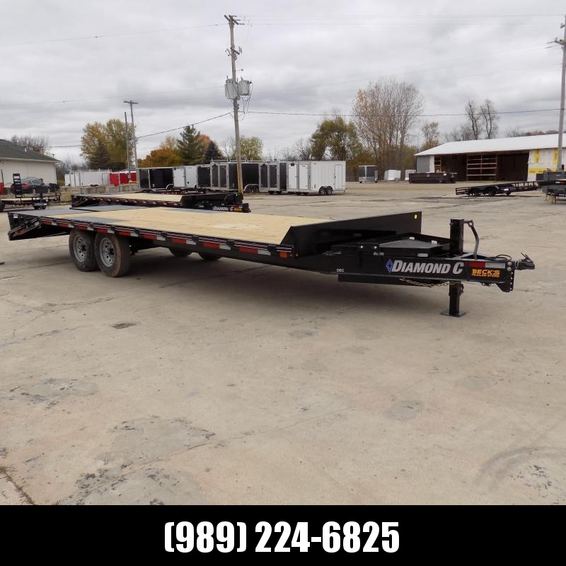 "New Diamond C 102"" x 24' Deckover Equipment Trailer For Sale - $0 Down & Payments From $139/mo. W.A.C."