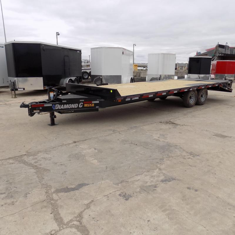 """New Diamond C 102"""" x 24' Deckover Equipment Trailer For Sale - $0 Down & Payments From $139/mo. W.A.C."""