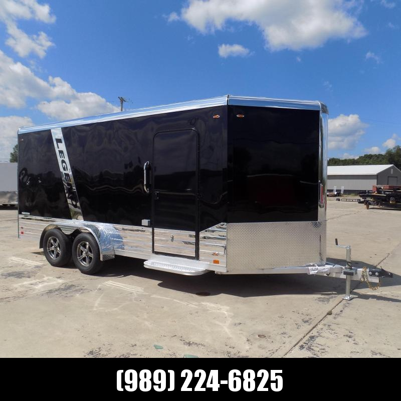 New Legend Deluxe V Nose 7' X 19' All Aluminum Cargo Trailer - $0 Down with Financing Options Available
