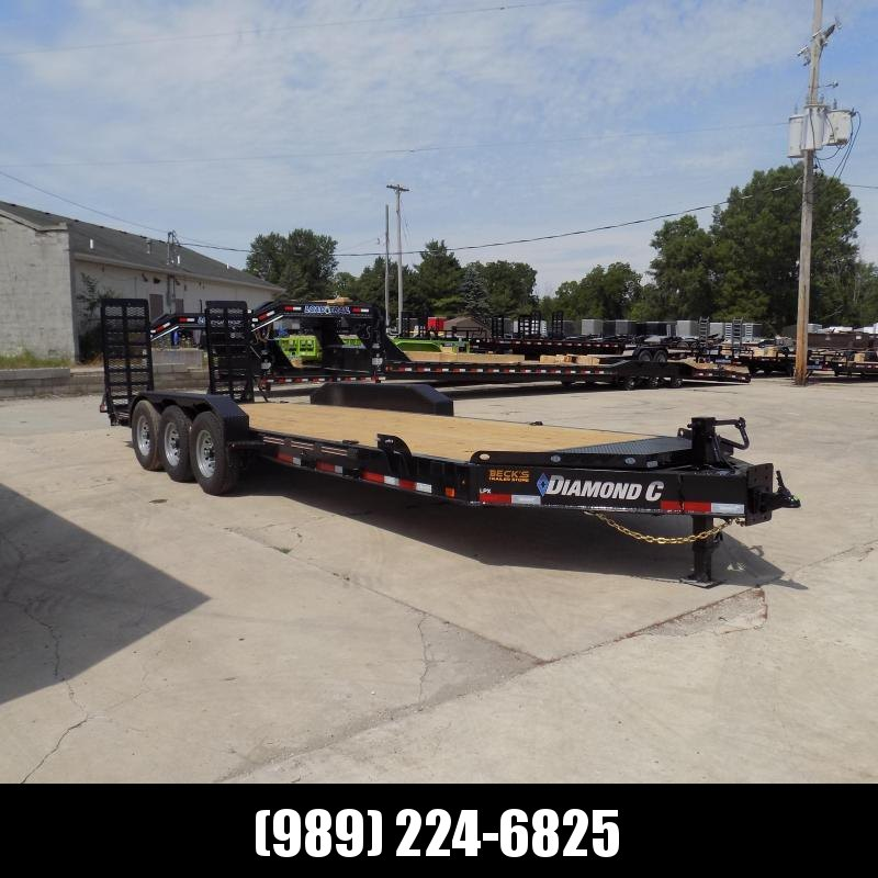 "New Diamond C Trailers 82"" x 24' Triple Axle Equipment Trailer For Sale W/ Over 20K Payload Capacity! $0 Down & Payments from $135/mo. W.A.C."