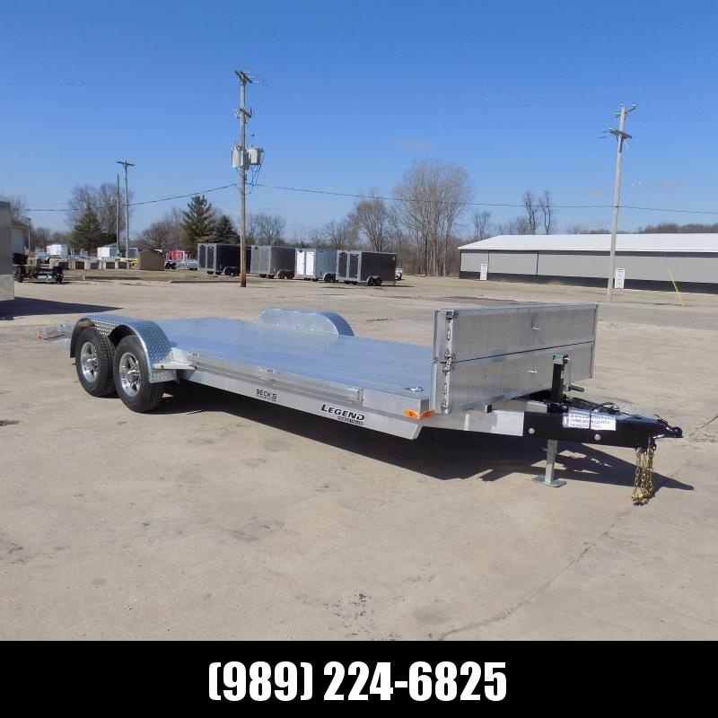 New Legend 7' x 20' Aluminum Open Car Hauler - 5200# Torsion Axles - $0 Down & Payments From $129/mo. W.A.C.