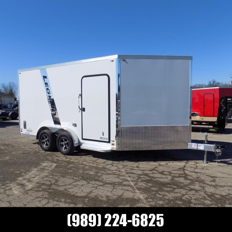 New Legend Explorer 7.5' x 19' Snowmobile Trailer - New 7.5' Wide Model Has NO Interior Wheel Wells! Perfect For UTVs Too! Flexible Financing Options Available