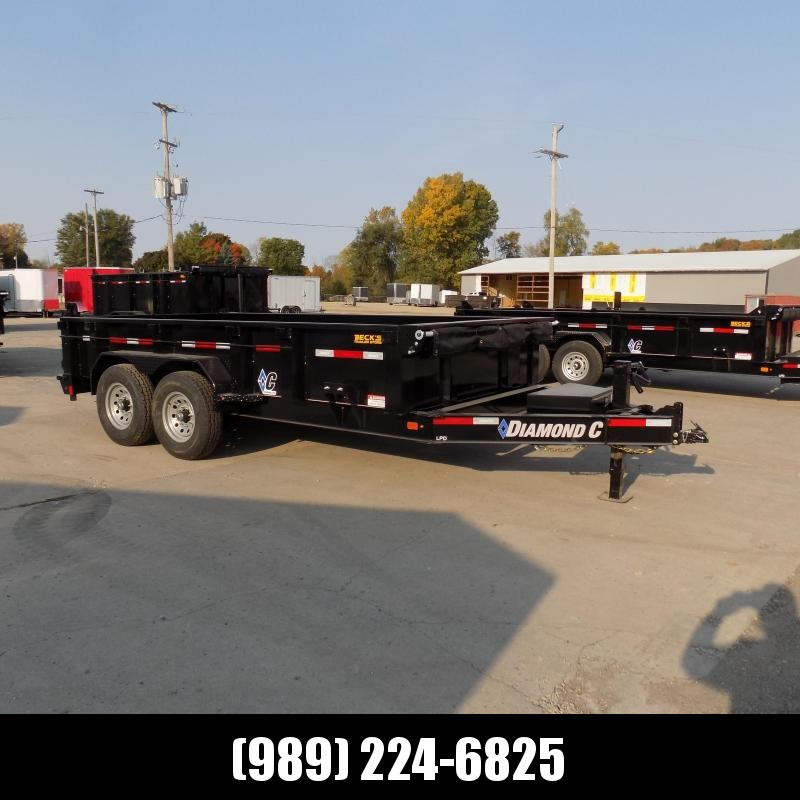 """New Diamond C 82"""" x 14' Low Profile Dump Trailer - $0 Down & payments From $129/mo. W.A.C."""