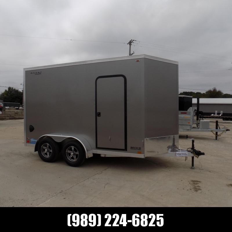New Legend Thunder 7' x 14' Aluminum Enclosed Cargo Trailer for Sale- $0 Down Payments From $119/Mo W.A.C.