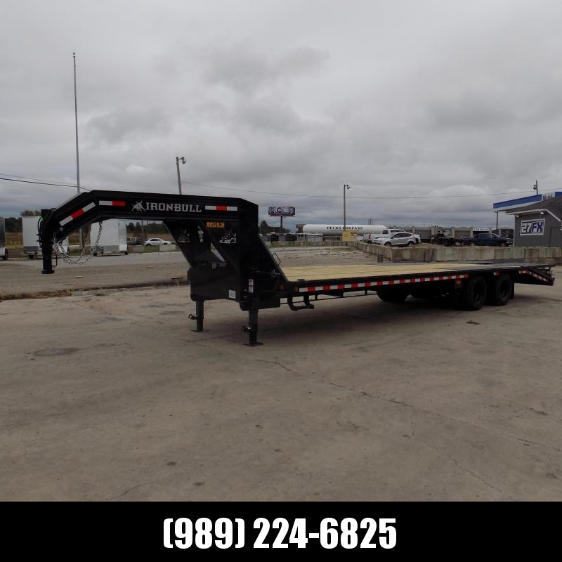 """New Iron Bull Trailer 102"""" x 30'' Gooseneck Trailer With Max Ramps - $0 Down & Finance Options Available"""