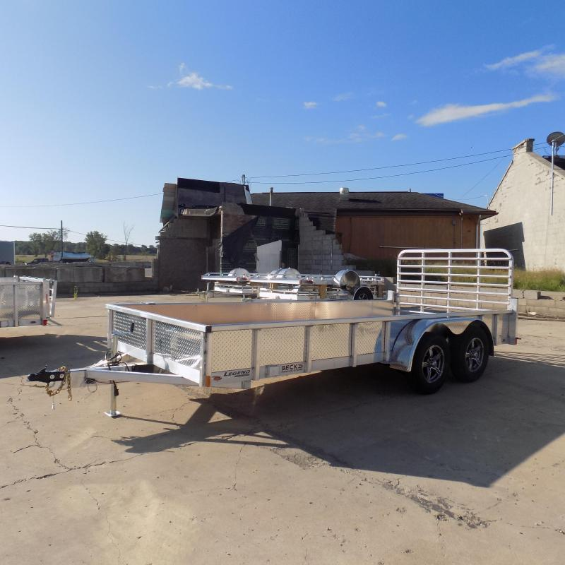 New Legend 7' x 16' Open Aluminum Equipment Trailer For Sale - $0 Down & Payments from $113/mo. W.A.C