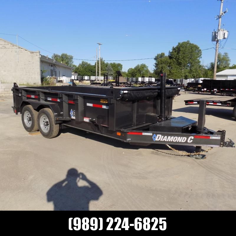 "New Diamond C Trailers 82"" x 14' Low Profile Dump W/ Telescopic Lift - $0 Down & Payments from $145/mo. W.A.C."