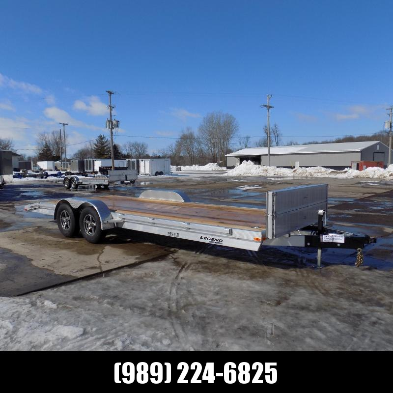 New Legend 7' x 22' Aluminum Open Car Hauler - Torsion Axles - $0 Down & Payments From $113/mo. W.A.C.