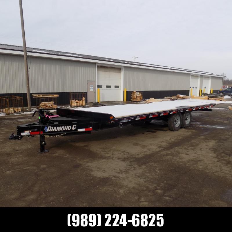 "New Diamond C DET 102"" x 24' Tilt Deckover Equipment Trailer - $0 Down & Payments From $119/mo. W.A.C."