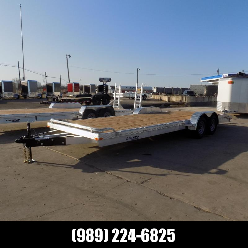 New Legend 7' x 24' Aluminum Open Car Hauler - 5200# Torsion Axles - $0 Down & Payments From $129/mo. W.A.C.