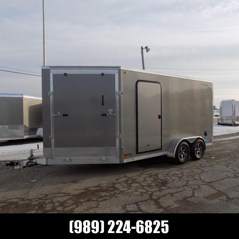 New Legend Thunder 7' x 19' Aluminum Snowmobile Trailer - $0 Down & Payments From $111/mo. W.A.C. - Best Deal Guarantee