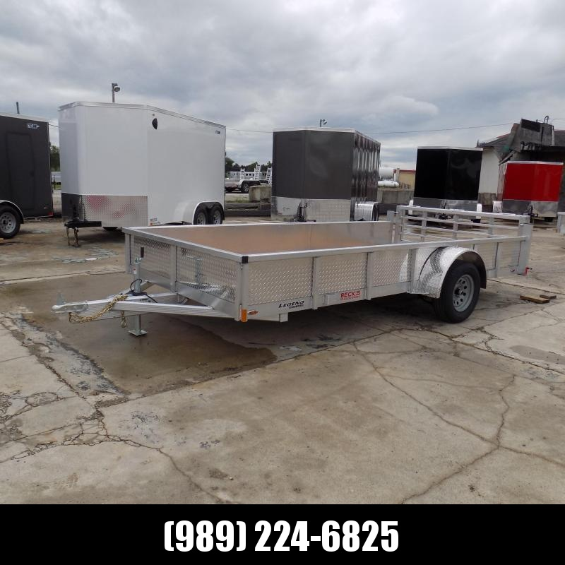 New Legend Open Deluxe 7' x 14' Aluminum Utility Trailer - $0 Down & Payments From $73/mo. W.A.C.