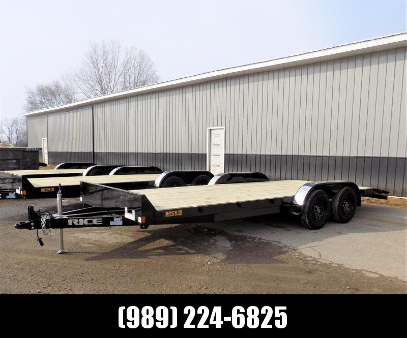 """New Rice Trailers 7"""" x 20' Open Car Hauler - $0 Down & Payments From $93/mo. W.A.C."""
