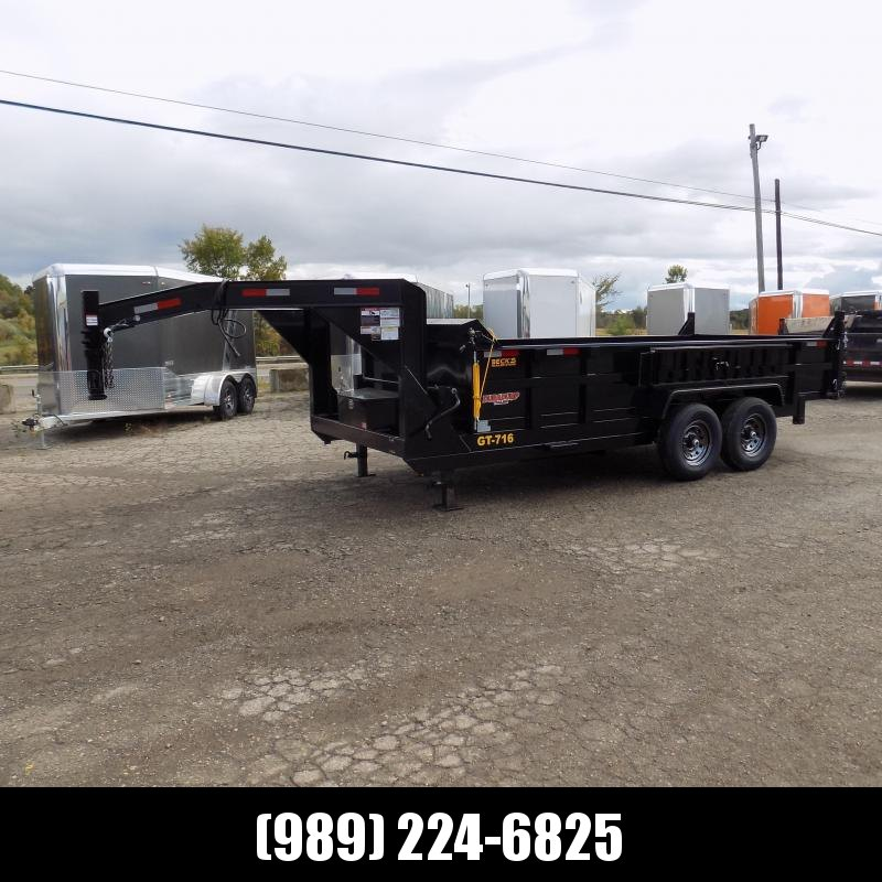 New DuraDump 7' x 16' Gooseneck Dump Trailer For Sale - $0 Down & Payments From $139/mo. W.A.C.