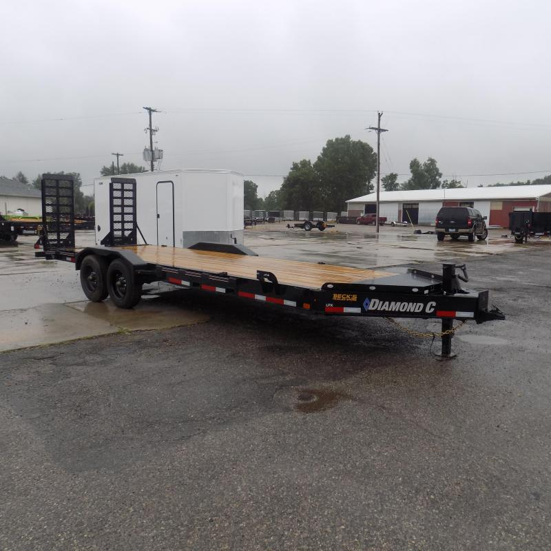 "New Diamond C Trailers 82"" x 22' Heavy Duty Equipment Trailer - 10K Axles - $0 Down & Payments from $139/mo. W.A.C."