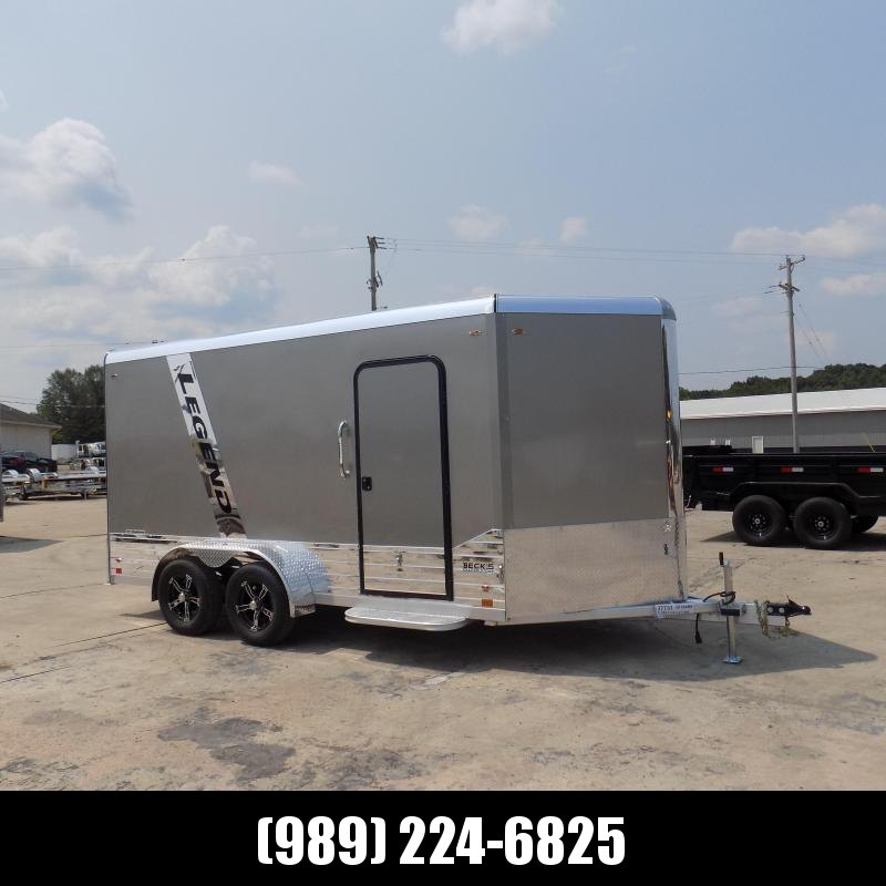 New Legend Deluxe V Nose 7' X 17' All Aluminum Cargo Trailer - $0 Down & Payments from $159/mo. W.A.C.