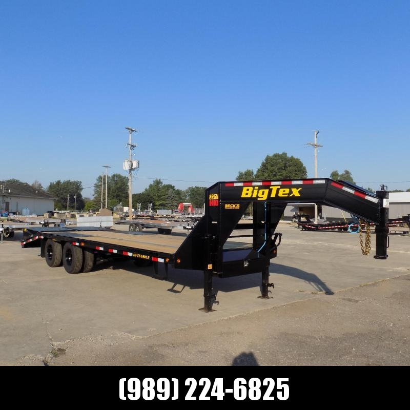 """New Big Tex Trailers 102"""" x 20'+5' Gooseneck Trailer With Mega Ramps - Flexible Financing Available"""