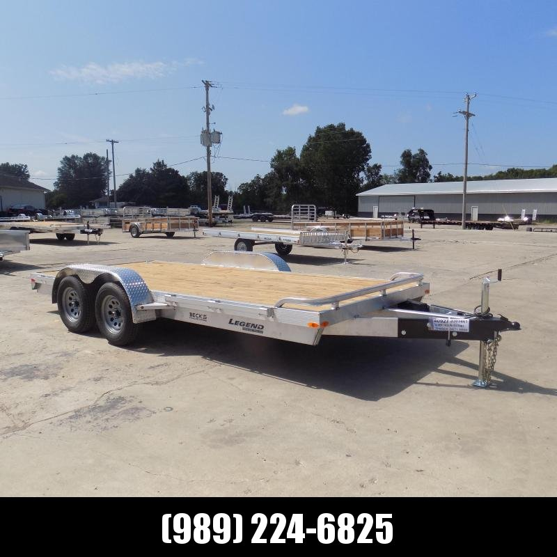 New Legend 7' x 16' Open Aluminum Equipment/Car Hauler Trailer For Sale - $0 Down & Payments from $127/mo. W.A.C
