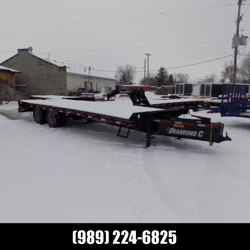 "New Diamond C Trailers PX 102"" x 25' Equipment Trailer w/ Pintle Hitch and 25K Weight Rating - $0 Down & $169/mo. W.A.C."