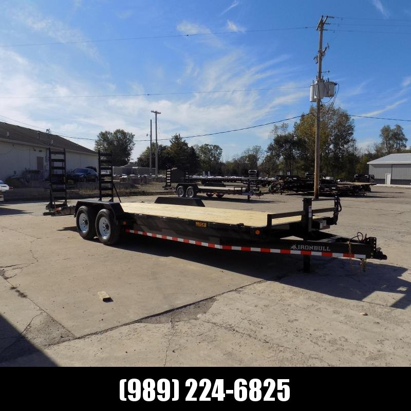 """New Iron Bull 83"""" x 24' Equipment Trailer For Sale - $0 Down & Payments From $143/Mo W.A.C"""