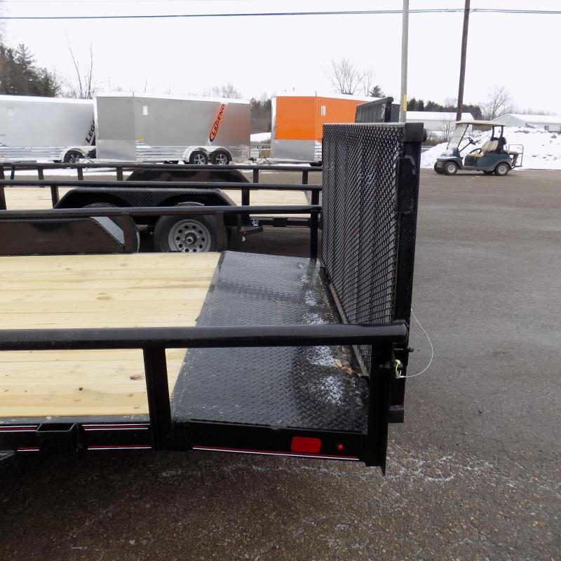 New Diamond C Trailers 7' x 18' Tandem Axle Utility Trailer With Bi-Fold Gate - $0 Down & $101/mo. W.A.C.