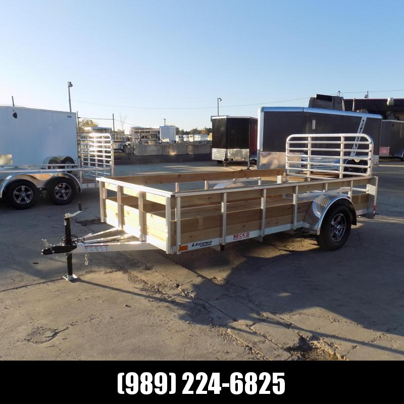 New Legend 6' x 12' Aluminum High Side Utility Trailer For Sale - $0 Down & Payments From $60/mo. W.A.C.