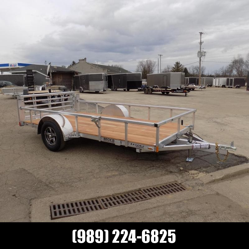 New Legend Open Deluxe 6' x 12' Aluminum Utility - $0 Down & Payments From $73/mo. W.A.C.