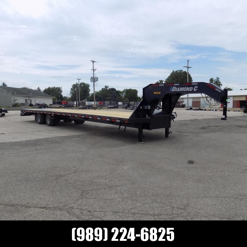 "New Diamond C Trailers 102"" x 40' Gooseneck Equipment Trailer With 25.9K Weight Rating"