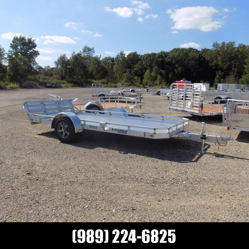 New Legend All Aluminum 7' x 14' Utility Trailer With Aluminum Deck & 3-Way Gate - $0 Down & $115/mo. W.A.C.