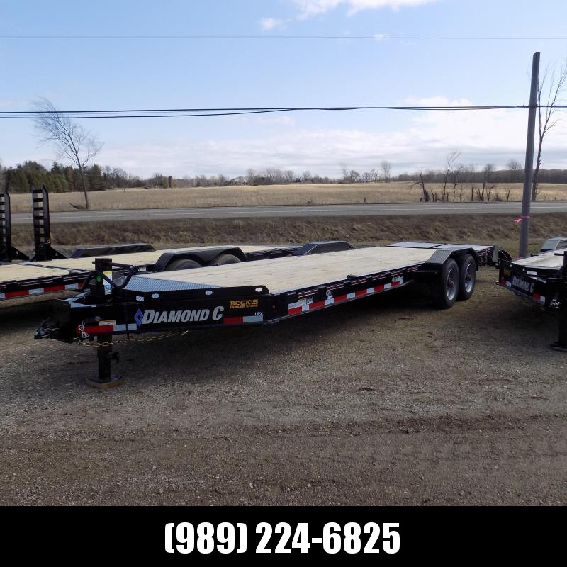 """New Diamond C Trailers 82"""" x 24' Heavy Duty Equipment Trailer - HD Drive-Over Fenders & 10K Axles - $0 Down & Payments from $144/mo. W.A.C."""