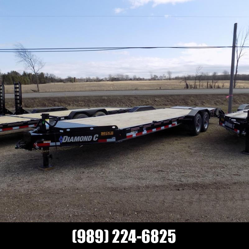 "New Diamond C Trailers 82"" x 24' Heavy Duty Equipment Trailer - HD Drive-Over Fenders & 10K Axles - $0 Down & Payments from $144/mo. W.A.C."