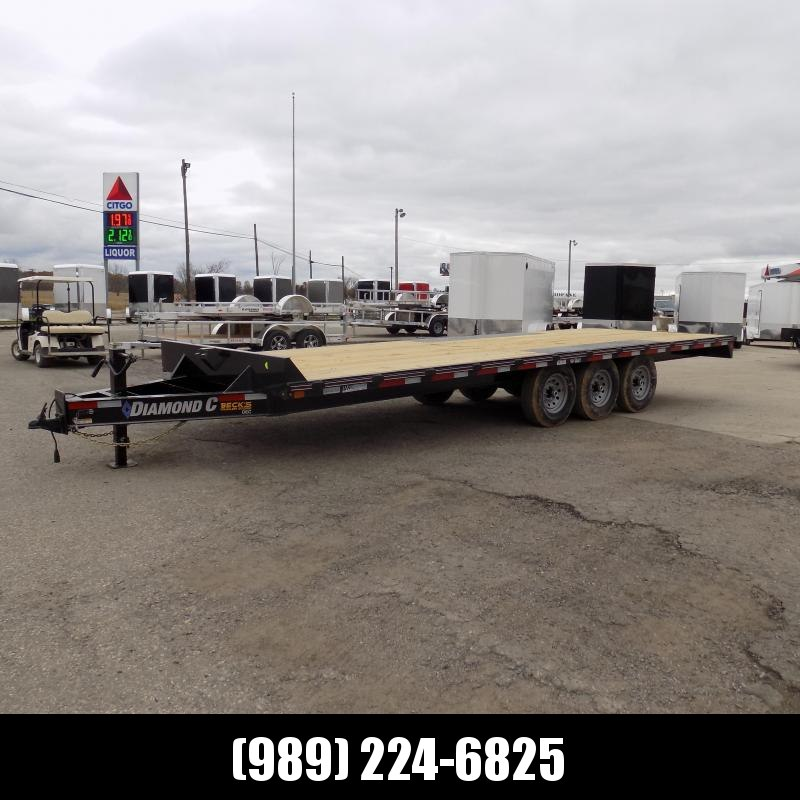 """New Diamond C 102"""" x 24' Deckover Equipment Trailer 24K Weight Rating - $0 Down & Payments From $125/mo. W.A.C."""