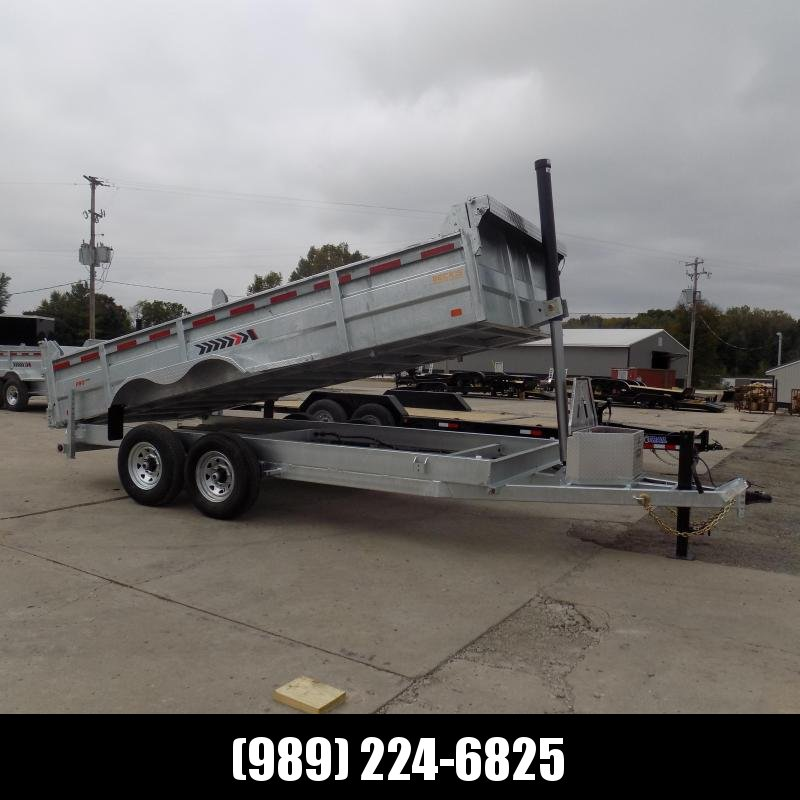 New Galvanized 7' x 16' Dump Trailer with Telescopic Lift - Corrosion Resistant - $0 Down Financing Available